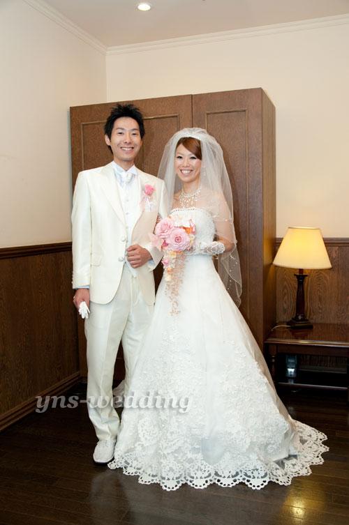 新潟県 KY様のウェディングドレス・タキシード着用のお写真